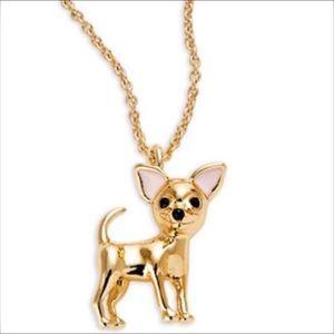 Kate Spade Haute Stuff Chihuahua Long Necklace